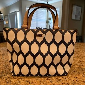 Navy and White print Kate Spade purse